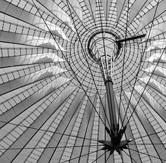 Sony Center Berlin (ericgrhs) Tags: bw berlin architecture potsdamerplatz sonycenter architektur