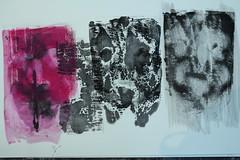 Masken von Menschen, die wir schon immer gekannt haben (raumoberbayern) Tags: water painting paper print wasser paint acrylic sketchbook masks draw acryl masken robbbilder malerei druck linolfarbe