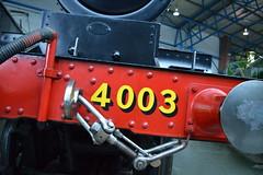 4003 (dhcomet) Tags: york red museum train yorkshire engine railway steam national nrm lodestar gwr 4003