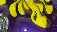 A12775 / car show details: willys (janeland) Tags: sanfrancisco california november abstract yellow purple mosconecenter willys 94103 2015 sanfranciscointernationalautoshow vehiclegraphics pe0 median3