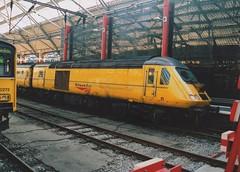 """Network Rail Class 43, 43014 (37190 """"Dalzell"""") Tags: yellow liverpool nr limestreet nmt hst highspeedtrain networkrail class43 intercity125 43014 newmeasurementtrain testtrain doctoryellow bufferfitted brelcrewe hstdvt surrogatedrivingvantrailer"""