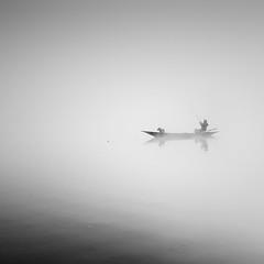 Fisherman (Jaques10000) Tags: autumn mist seascape monochrome landscape blackwhite nikon semlin d5100