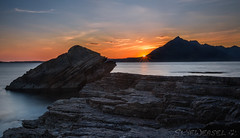 Elgol on the Rocks (SkyeWeasel) Tags: sunset skye scotland ngc cuillins elgol blackcuillins