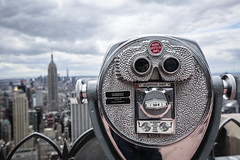 Top Of The Rock (ax.stoll) Tags: new york city travel sky urban usa skyline clouds state united center empire states rockefeller urbex