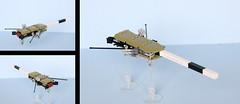 Deep-Space-Research-Cruiser (DSRC-F1): the Cirsare (as of 2084) (legoz tourist 328) Tags: ship lego space explorer spaceship microspace microscale microspacetopia