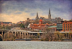 Georgetown, Washington D.C., view from the Potomac River (PhotosToArtByMike) Tags: washingtondc dc washington shoreline georgetown georgetownwaterfrontpark nationscapital