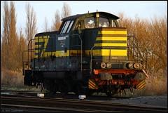 NMBS SNCB 7402 Antwerpen-Noord 08022015 (W. Daelmans) Tags: train diesel railway locomotive 74 trein spoorweg nmbs locomotief sncb 7402 hld antwerpennoord