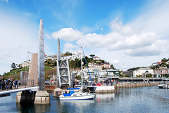 TORQUAY HARBOUR PEDESTRIAN BRIDGE. (tommypatto ~ IMAGINE : On extended gardening leave) Tags: boats seaside devon yachts torquay harbours torbay southwestengland