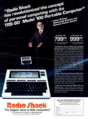 Isaac Asimov for the TRS-80 Model 100 Portable Computer, 1983 ad (Tom Simpson) Tags: vintage computer advertising portable ad advertisement electronics 1983 1980s radioshack trs80 vintagead model100 isaacasimov portablecomputer