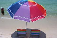 Hollow Man Vacation (Lawnchair Youth) Tags: beach lawn chair umbrella panama city florida nautica water waves