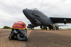 USAF B-52H Stratofortress with crewman's helmet (Sam Wise) Tags: bomber usaf raf fairford stratofortress b52h