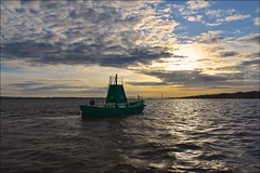 Lower Whitton Floating Buoy (Nanny Bean) Tags: clouds dawn tide cormorant hull owls humberbridge goole eastridingofyorkshire northlincolnshire riverhumber deepchannel floatingbuoy