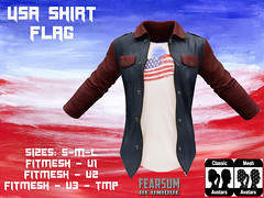 USA v3 FLAG (--- FEARSUM ---) Tags: independence day usa 4th july america open shirt flag eagle tshirt tmp slink adam miltiary collared
