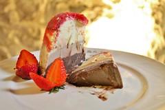 Saturday Colours - Lunch at Spessite Restuarant (Pushapoze - getting better) Tags: italia italy ostuni puglia pouilles spessite photofromtheweb dessert spumoni icecream