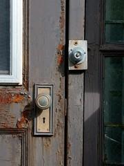 old St. Louis County Jail, MN (devoutly_evasive) Tags: abandoned minnesota handle rust bars decay neglected stlouis prison doorknob jail rusting saintlouis knob derelict mn duluth doorbell correctional