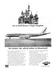Vacationland Fall 1965 24 - United Airlines ad (Tom Simpson) Tags: travel tourism vintage advertising airplane disneyland united ad disney advertisement airline 1960s vacationland unitedairlines 1965 sleepingbeautycastle vintagead vintagedisneyland vintagedisney
