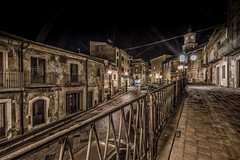 Assoro, Sicilia by Night (mcalma68) Tags: street old urban architecture night cityscape sicily authentic assoro