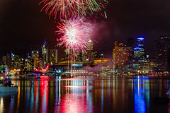 MG_1808 : Docklands winter fireworks 2016 (Peter ZZZ) Tags: city nightphotography winter water night skyscraper reflections fireworks melbourne docklands rialto canonef24105mmf4lisusm etihadstadium