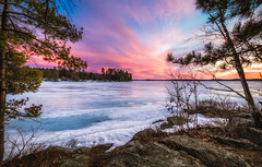 Lake Winnipesaukee (Robert Clifford) Tags: trees winter sky lake cold ice water frozen rocks shoreline newengland newhampshire nh shore lakewinnipesaukee moultonborough lakeice robertallanclifford robertallancliffordcom