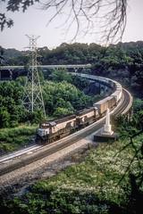 RF&P 144-125 OBSN 6-22-85- (Vince Hammel Jr) Tags: railroad trains scanned
