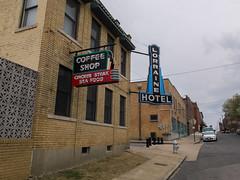 Memphis Street Scene (ho_hokus) Tags: street sign neon tn memphis tennessee 2015 lorrainehotel fujix20 fujifilmx20
