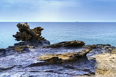 Rage Rocks - Calblanque (archtkt) Tags: sea espaa naturaleza seascape nature colors landscape spain rocks colorful colours murcia cartagena calblanque 500px