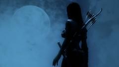 Moonshade (~Scimo~) Tags: skyrim moon shadow clouds night fantasy screenshot rpg redguard archer silhouette