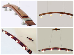 Saba, Recycled Wine Barrel Stave Kitchen Island Light (irecyclart) Tags: lamp wine recycled barrel pendant