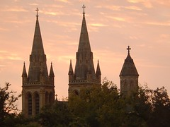 Cathedral Spires (mikecogh) Tags: church dusk spires religion culture crosses anglican northadelaide stpeterscathedral