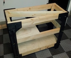 acquarium fishtank homeimprovement diy 2x4basics wood construction storage shelving 2x4 plastic year2012 home 2012