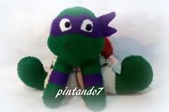 Tartarugas ninja (Mnica Pintando7) Tags: feltro festa presente tartarugasninja festainfantil pintando7 centrodemesa