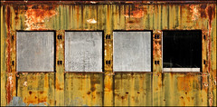 Epiphany (Junkstock) Tags: california old windows color texture abandoned window photography photo rust paint photos decay rusty textures photographs photograph rusted weathered aged distressed corrosion decayed patina corroded rustyandcrusty oldstuff perris centralcal oldandbeautiful agedwindow