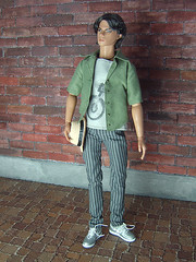 Oh them boys - the green chemise (Levitation_inc.) Tags: boy man male men boys fashion doll ooak ken levitation clothes dynamite royalty hommes homme