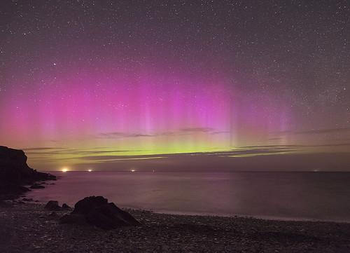 'White Beach Aurora' - Llangoed, Anglesey