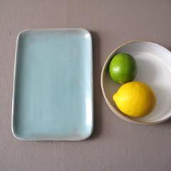 Flat Serving Tray (Jude Allman) Tags: blue ceramic ceramics crafts craft plate jude clay pottery plates stoneware allman