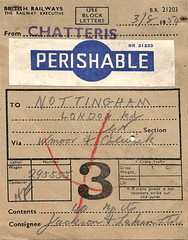 Chatteris Freight Label (Kev Gregory) Tags: road park nottingham london vegetables station retail yard wagon fire closed label report great nation 1996 railway 1954 august victoria jackson route health 1967 land historical converted british carrots 40 1970 bags northern fitness 1972 trade railways ltd developed gnr cambridgeshire 3rd freight bypass agricultural largest carrying shipment consignment marshalling sidings colwick lacken famed suppliers perishable whitemoor chatteris beeching clubhistory a141 chatterisfreightlabel