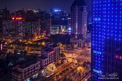 Red Star Hangzhou (Tony Phillips Photography) Tags: china street city nightphotography travel night skyscraper buildings cityscape nightscape traffic hangzhou lighttrails