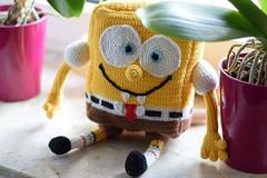 Spongebob. Made by me. Made by hand. (Thema hkeln_Boe) Tags: crochet bob gelb spongebob amigurumi sponge schwamm hkeln