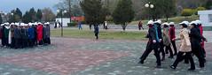 Des écolières répètent - Mansudae Fountain Park - Pyongyang (jonathanung@ymail.com) Tags: lumix asia korea asie kp nord northkorea pyongyang corée dprk cm1 koryo coréedunord insidenorthkorea républiquepopulairedémocratiquedecorée rpdc lumixcm1