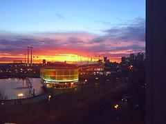Royal Docks, London, UK (Maria Kotsonia) Tags: sunset london apple emirates canarywharf iphone northgreenwich o2arena iphone6