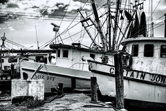 _MG_2685 (Scosanf) Tags: trip travel sky blackandwhite bw gulfofmexico water monochrome clouds canon eos coast texas ef2470mmf28lusm 6d topazlabs topazbweffects