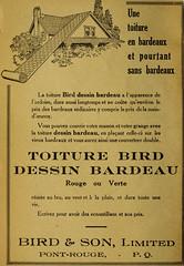 Toiture Bird dessin bardeau - Bird & Son (vieillespubs) Tags: 1922 pontrouge