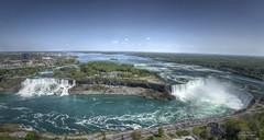Niagara Falls Panorama (GloriaOcch) Tags: panorama canada water river niagarafalls skylontower