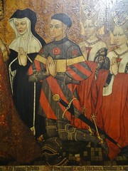 1445-1449 - 'family of Jean Jouvenel (Juvnal) des Ursins' ((circle of the) Master of the Munich Golden Legend?), Cathdrale Notre-Dame, Paris, Muse de Cluny, Paris, France (roelipilami) Tags: 1445 1449 family jean jouvenel des ursins juvenal cathedrale cathedral notre dame paris parijs parigi master munich golden legend maitre legende doree meister mnchner legenda aurea meester van gouden muse museo cluny museum armet sallet great bascinet surcoat surcotte tabard tabart votif votive panel painting armor armour rstung harnas prayer wrapper visor vizier gilded