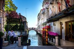 Gondola (William MacGregor) Tags: city sea sky italy water canon boats boat canal photo italian europe italia european cityscape waterfront image outdoor ngc scenic gondola dslr gondolier damncool yourbestoftoday macgregorwilliam