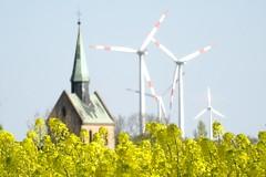 (MyWorldsView) Tags: blue sky church nature landscape natur kirche himmel landschaft raps blauer rapeseed