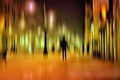 city at night (eggii) Tags: lighting street people night lights colours poland lodz piotrkowska