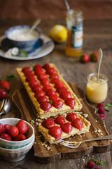 IMG_9580_exp (Helena / Rico sin Azcar) Tags: strawberry berries vanilla tart tarta fresas pastrycream vainilla cremapastelera