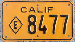 * California state motorcycle (sixes & sevens) Tags: 1956 license plates liceneplates ca california notmyplate