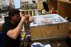 "John finishes the flight battery box • <a style=""font-size:0.8em;"" href=""http://www.flickr.com/photos/27717602@N03/27445539811/"" target=""_blank"">View on Flickr</a>"